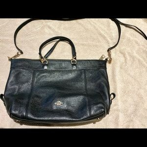 Coach Purse - Black Leather